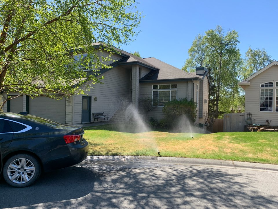 Anchorage, AK - I love some irrigation on these hot Anchorage days! I'm betting the lawn loves it even more though...