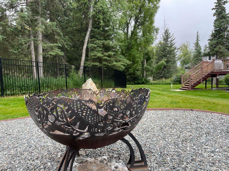 Anchorage, AK - Alaskans love their fire pits! Okay