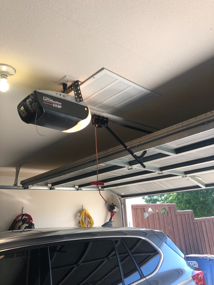 Allen, TX - Door tune up and panel repair in Allen