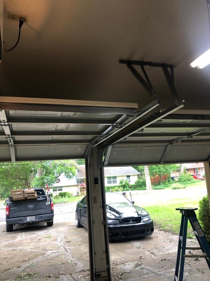 Allen, TX - 2 8x7 garage door install in Allen.