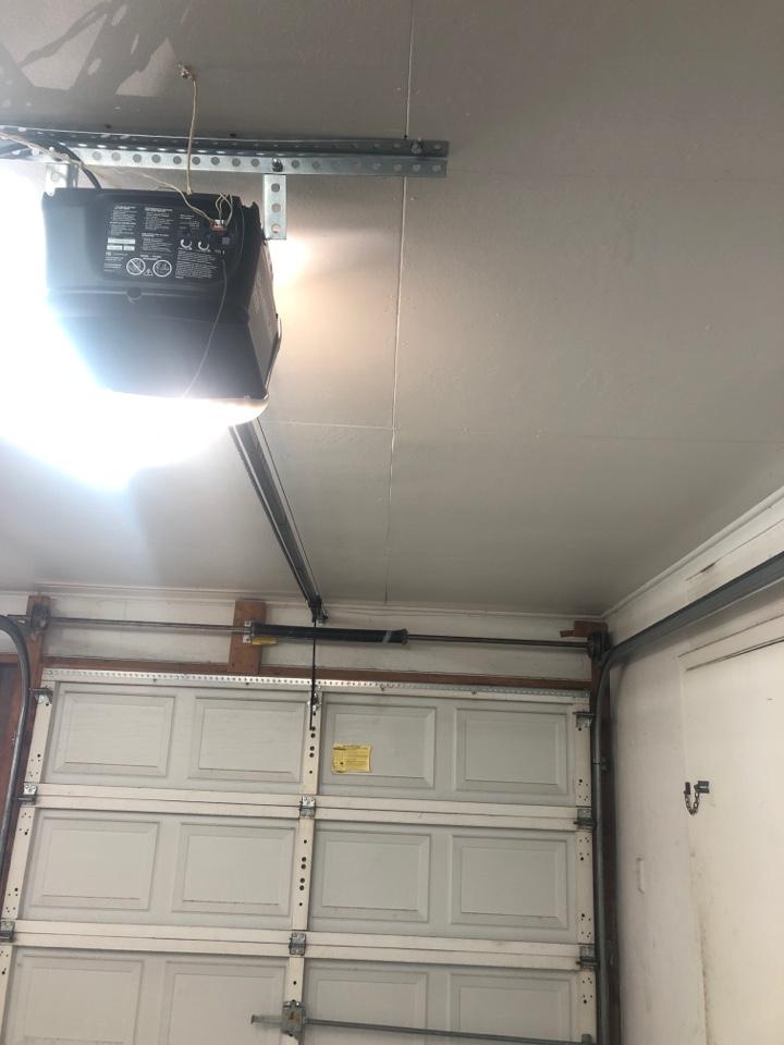 Dallas, TX - Replace garage door spring and gear set on the garage door opener in Dallas.