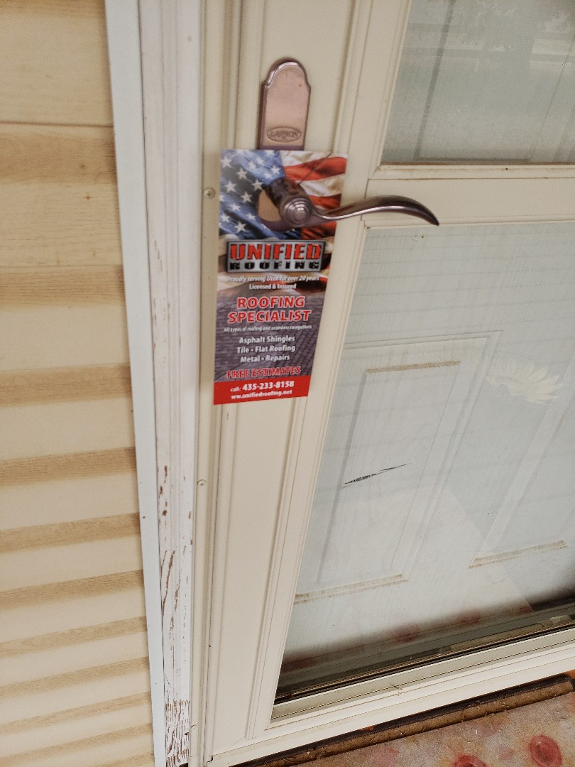 Enoch, UT - Roofing professionals, Unified roofing handles any types of materials, repairs, and even does free estimates. #roofing #doorhangers