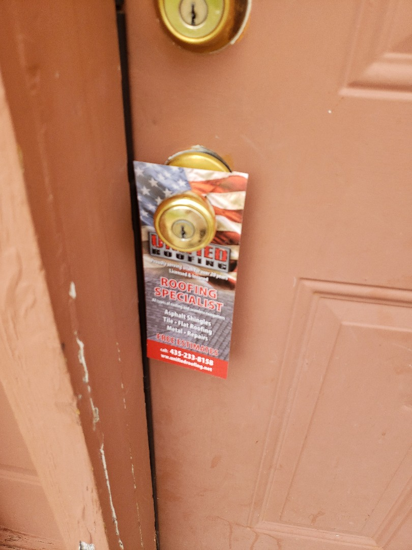Enoch, UT - Roofing professionals, Unified roofing handles any types of materials, gutter, free repairs, and even does free estimates. #roofing #doorhangers
