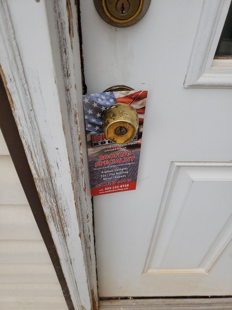 Cedar City, UT - Roofing professionals, Unified roofing handles any types of materials, gutter, cheap repairs, and even does free estimates. #roofing #doorhangers