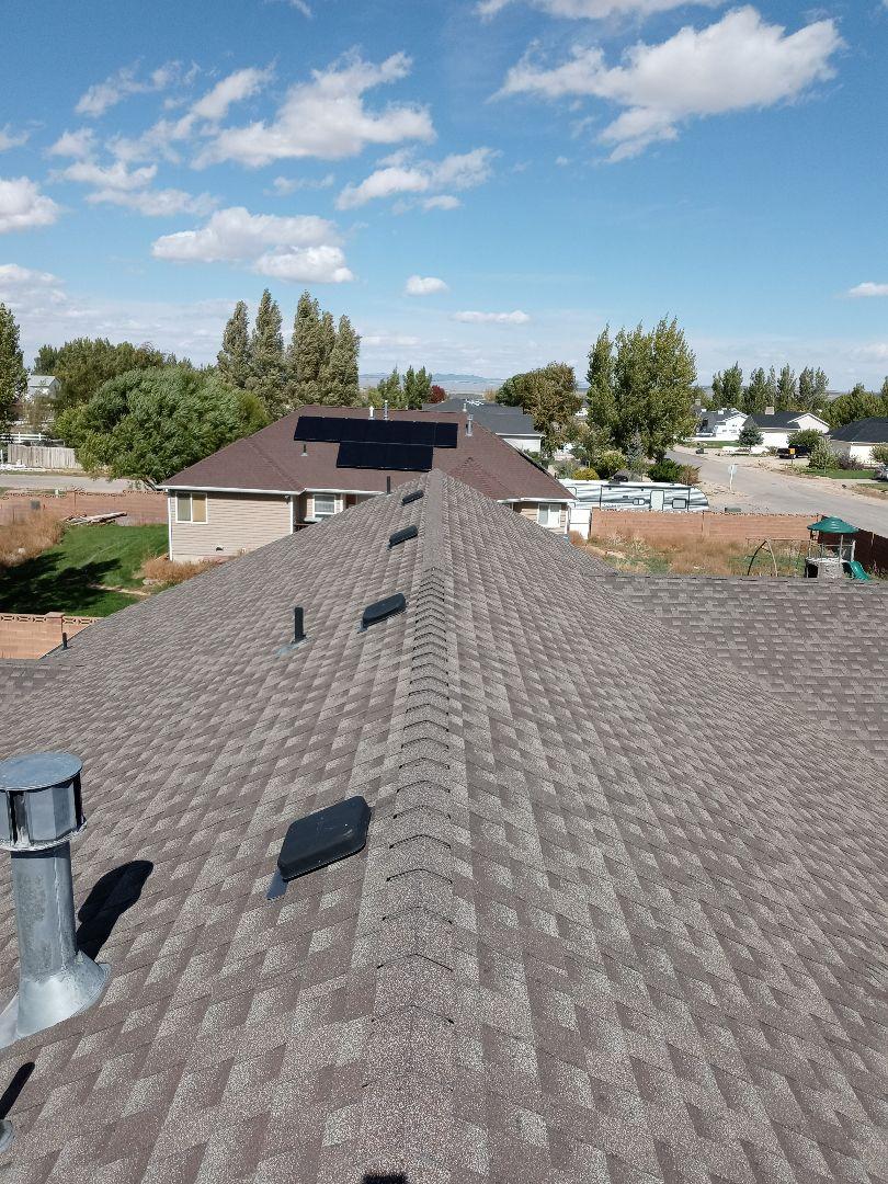 Cedar City, UT - Mesuring roof in Enoch