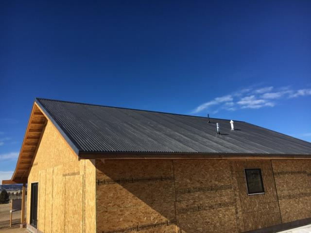 Hartsel, CO - New corrugated roof.