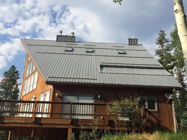 Evergreen, CO - R&R roofing completed the metal maintenance for this mountain property in Evergreen.
