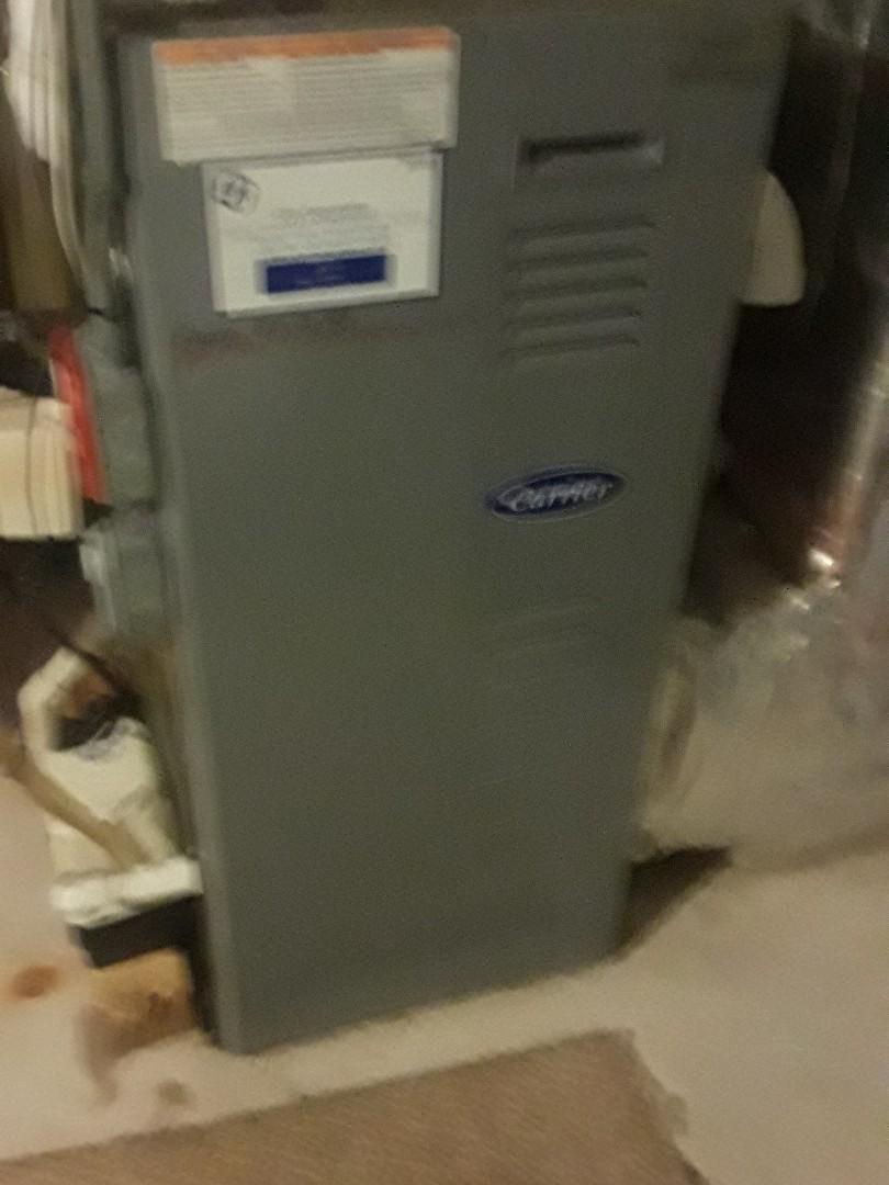 Auburn, MA - Heat repair on a Carrier gas furnace