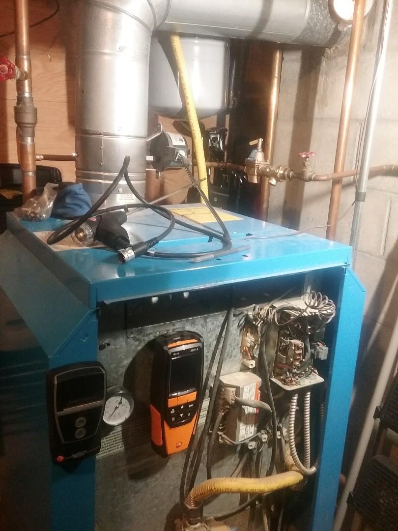 Hopkinton, MA - Service of a buderus gas boilet