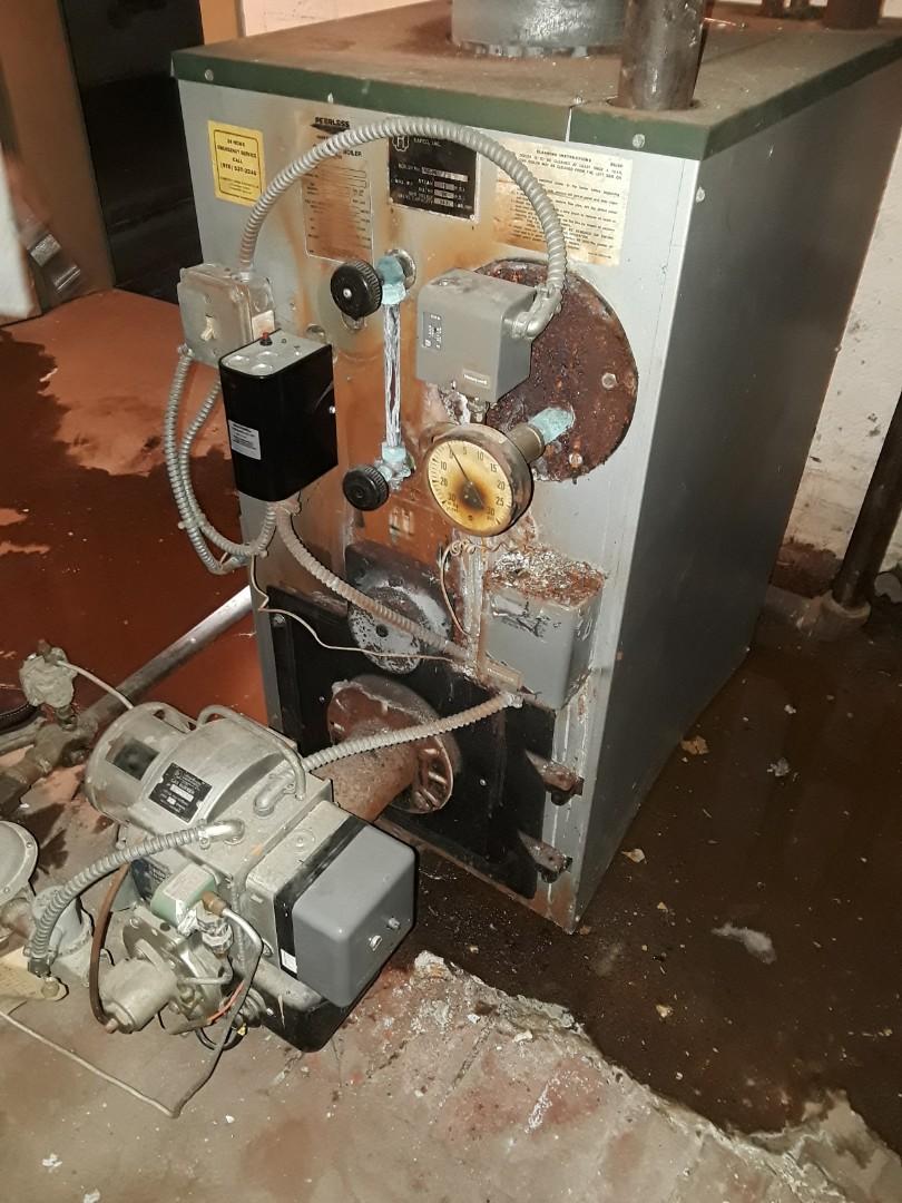 Fitchburg, MA - Heat repair on a Peerless boiler