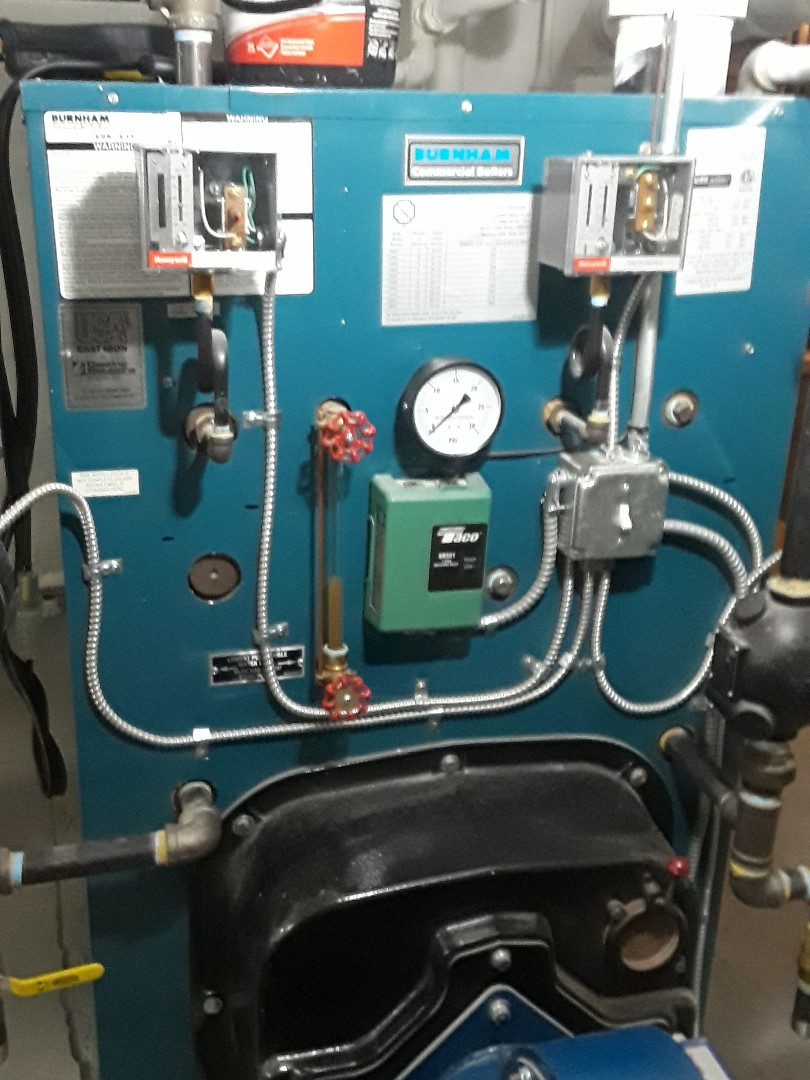 Leominster, MA - Clean and check Burnham Commercial gas boiler