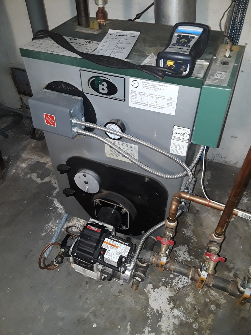 Princeton, MA - Clean and check Peerless oil boiler