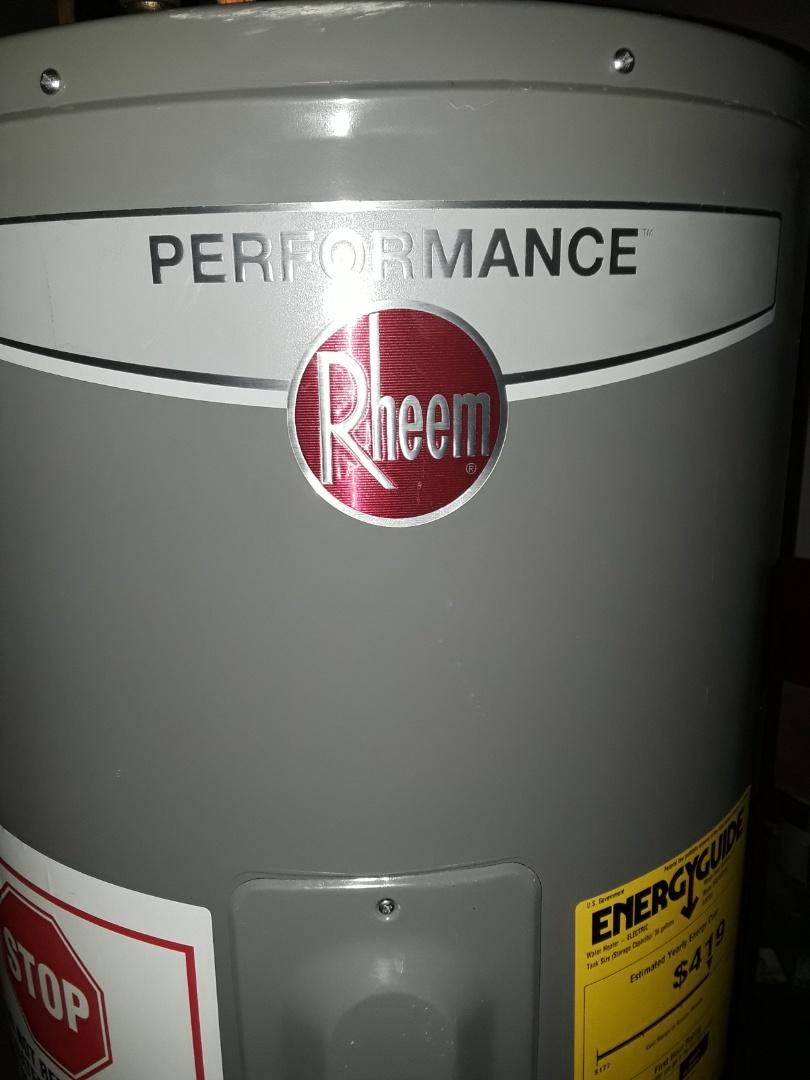 Fitchburg, MA - Repair on Rheem hot water heater