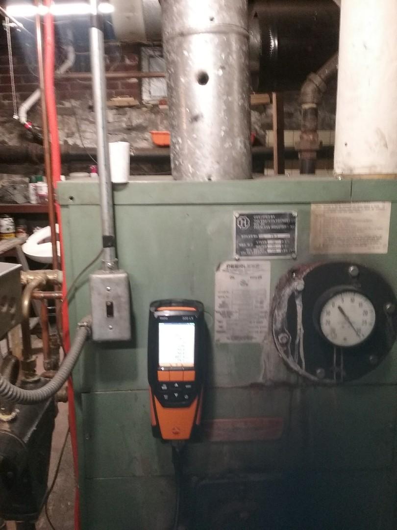 Leominster, MA - Service on a peerless oil steam boiler