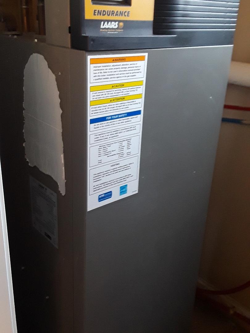 Worcester, MA - Heat repair on a Laars gas boiler