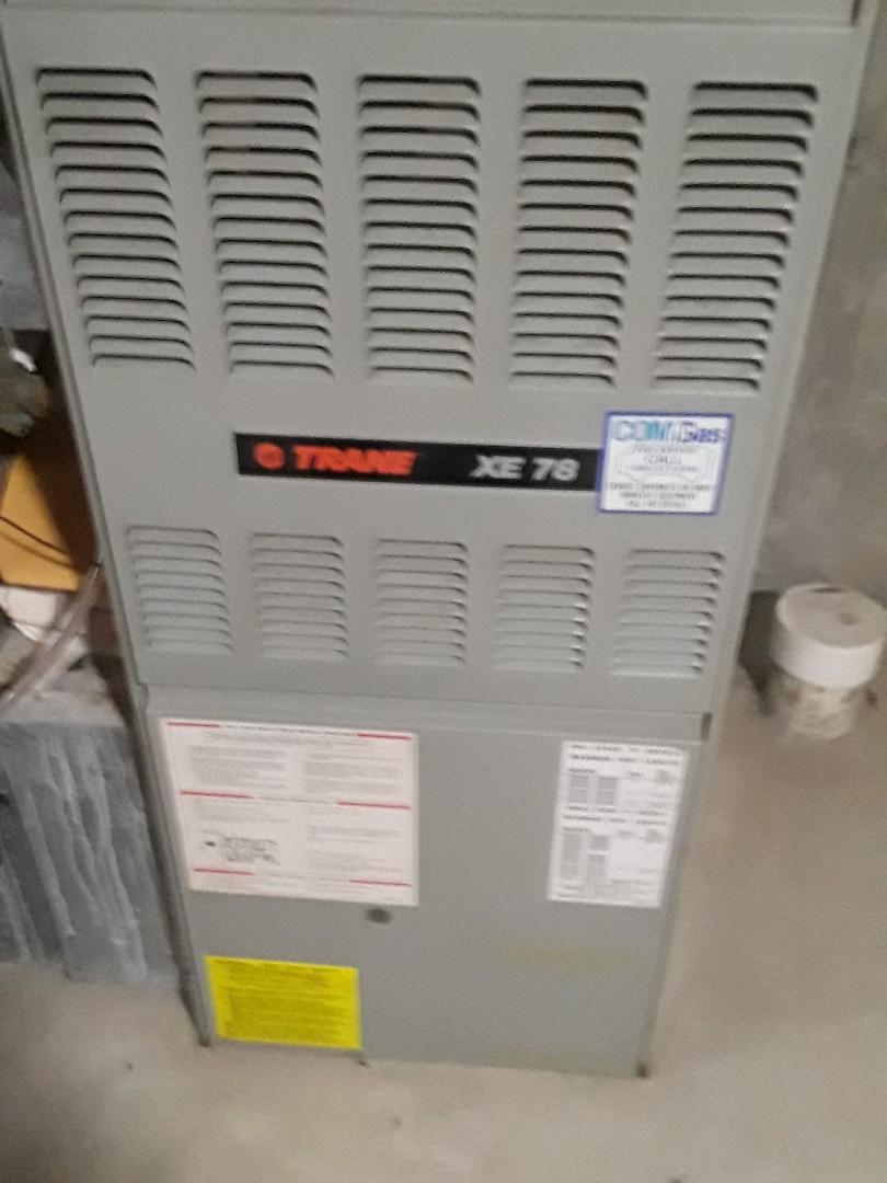 Auburn, MA - Clean and check Trane gas furnace