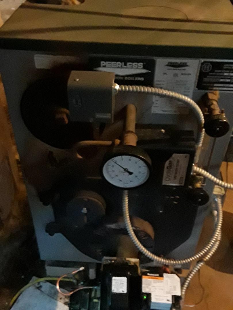 Leominster, MA - Heat repair on a Peerless oil boiler