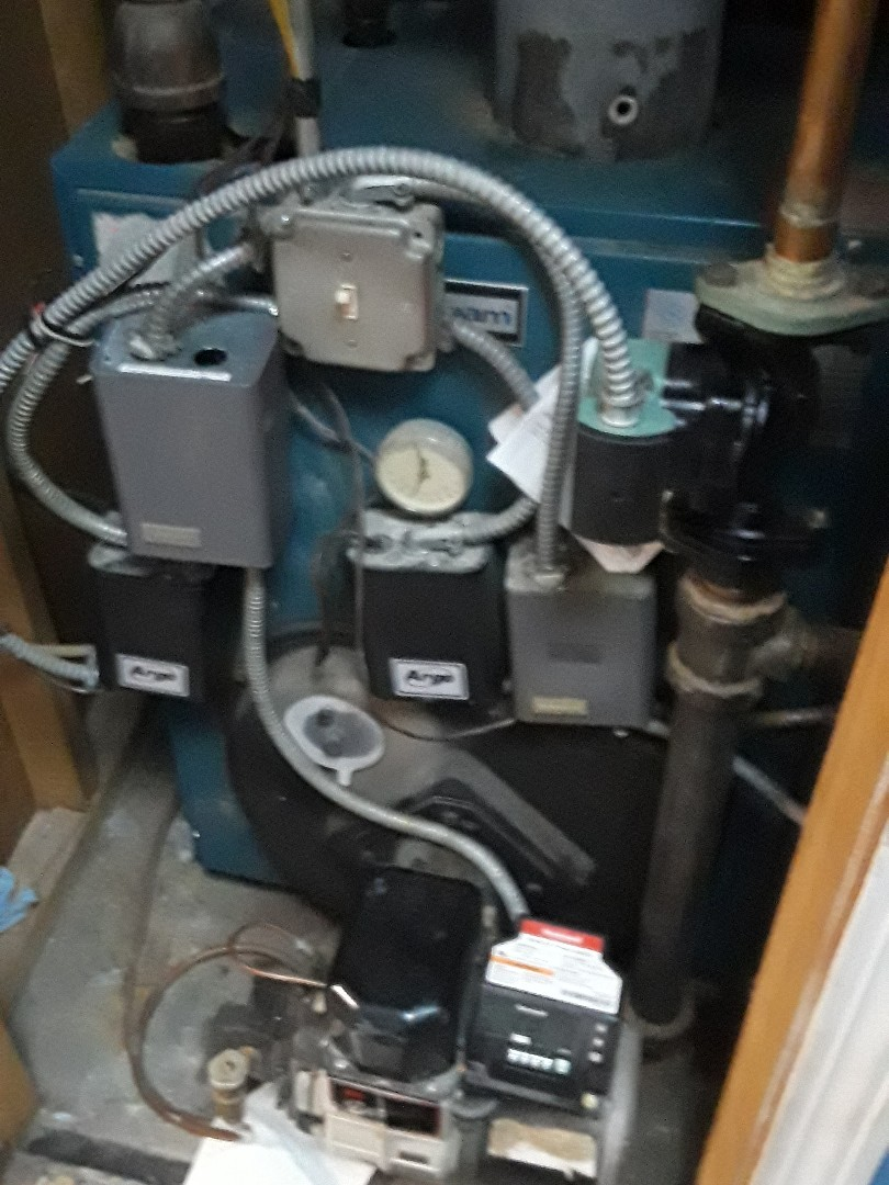 Holden, MA - Heat repair on a Burnham oil boiler