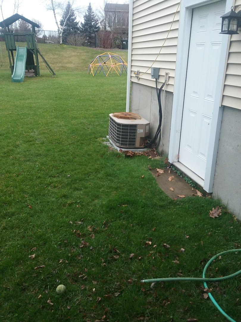 Sutton, MA - Service on a york condensor for air conditioning