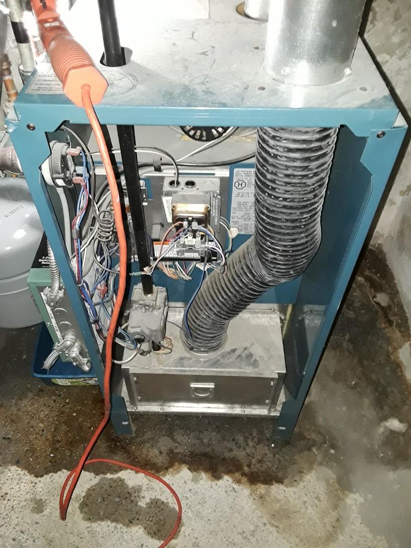 Boylston, MA - Heat repair on a Burnham gas boiler