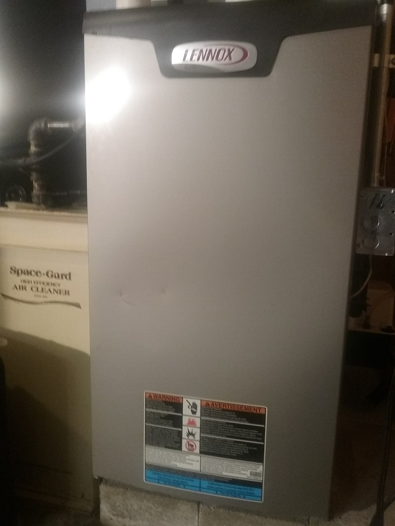 Auburn, MA - Service on a lennox high efficiency gas furnace