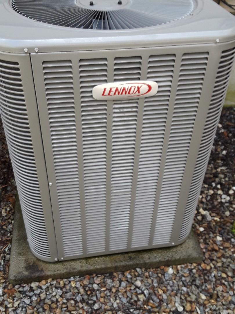 Auburn, MA - Clean and check Lennox AC unit