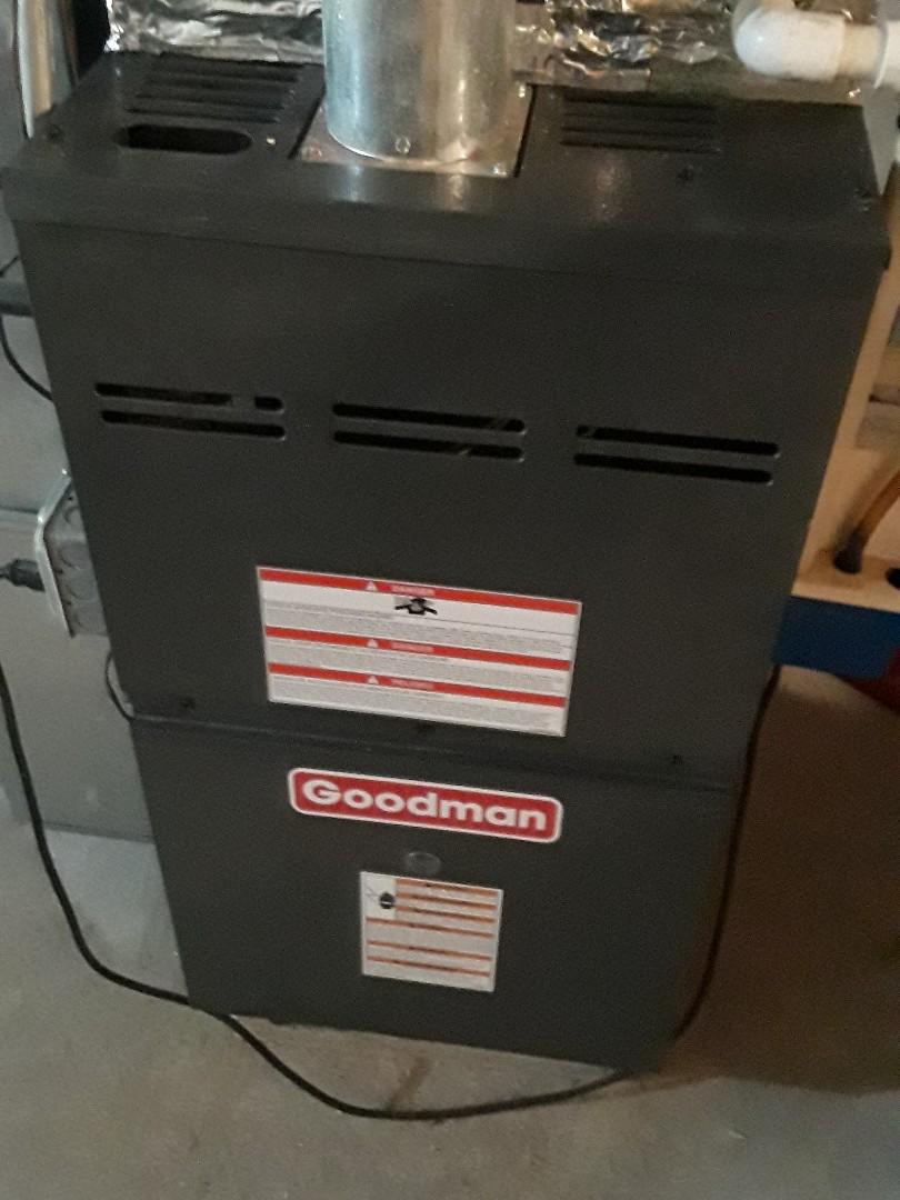 Millbury, MA - Clean and check Goodman gas furnace