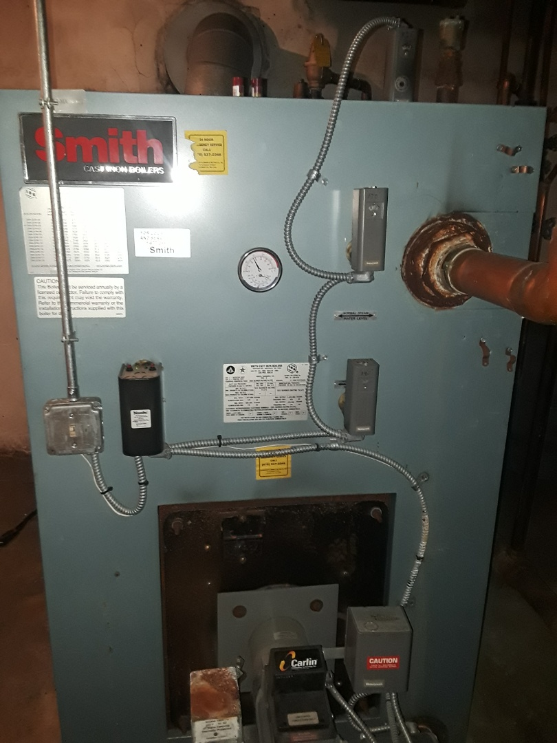Fitchburg, MA - Clean and check Smith commercial oil boiler