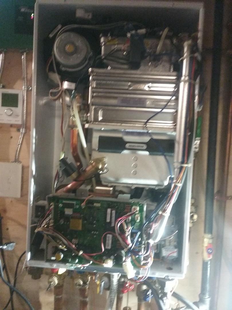 Millbury, MA - Service on a navien gas water combo boiler