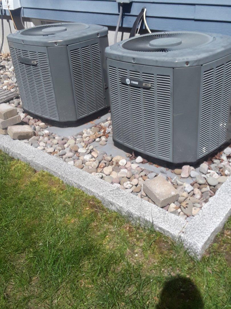 Grafton, MA - Clean and check Trane AC units