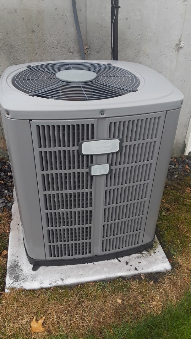 Southborough, MA - Clean and check American Standard AC unit