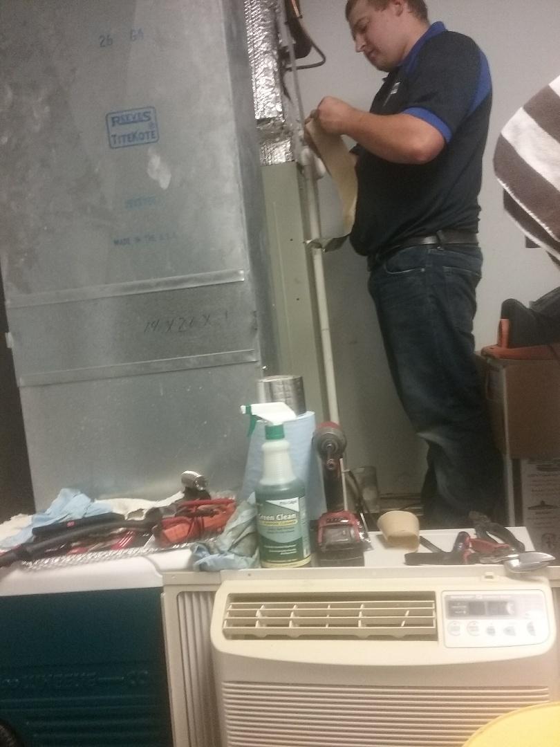 Shrewsbury, MA - Service on a trane gas air system