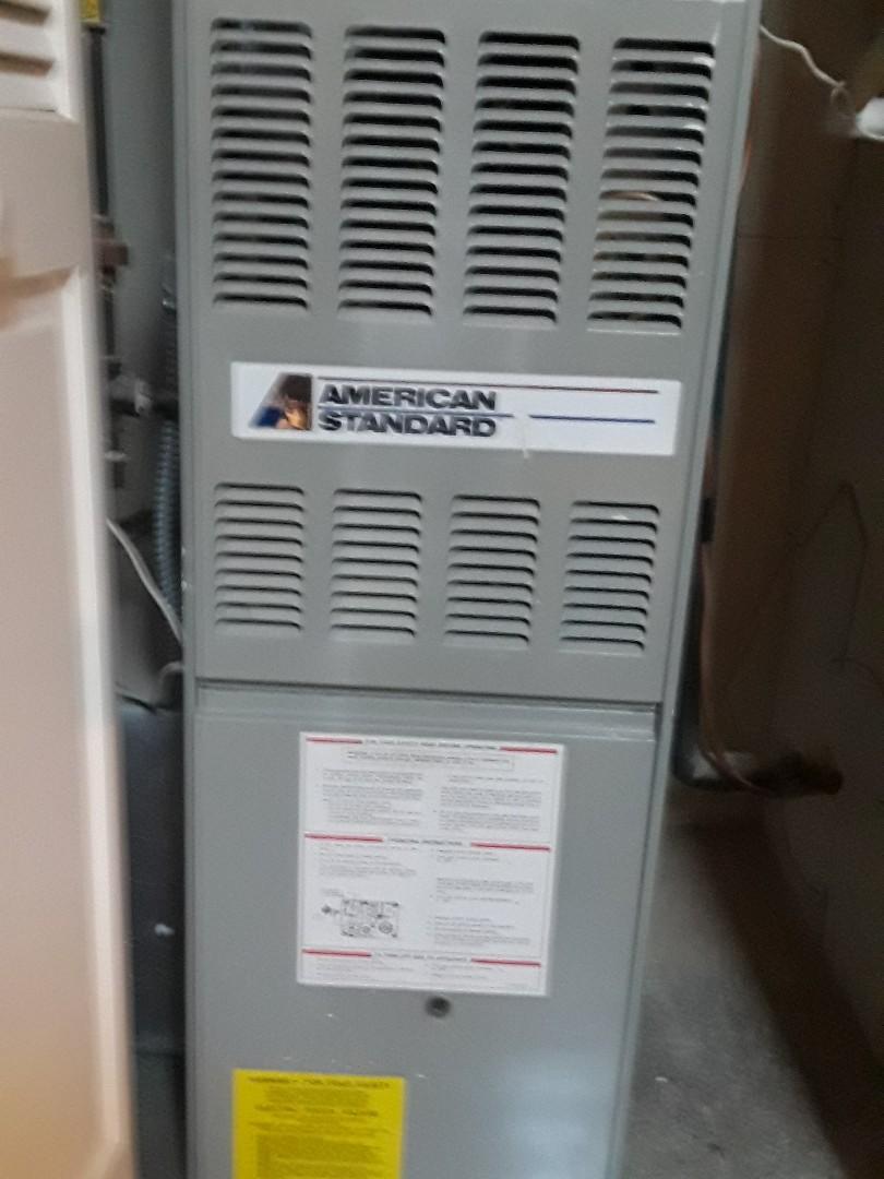 Shrewsbury, MA - American Standard gas furnace cleaning