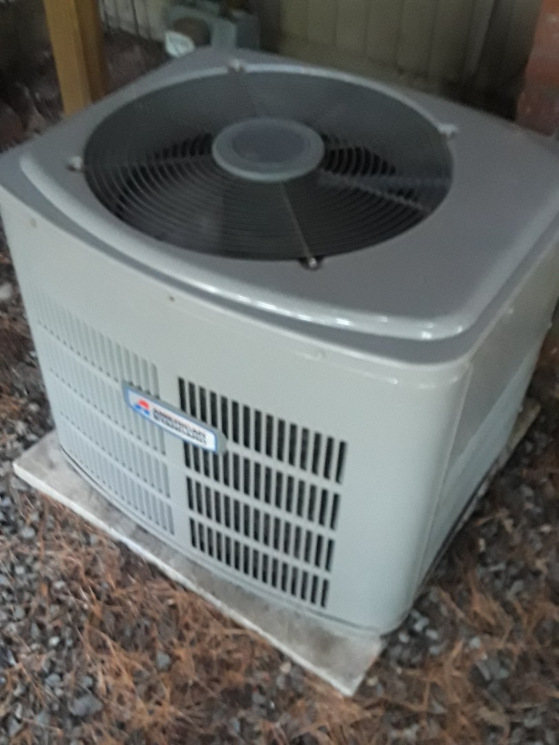 Westborough, MA - Clean and check American Standard AC unit