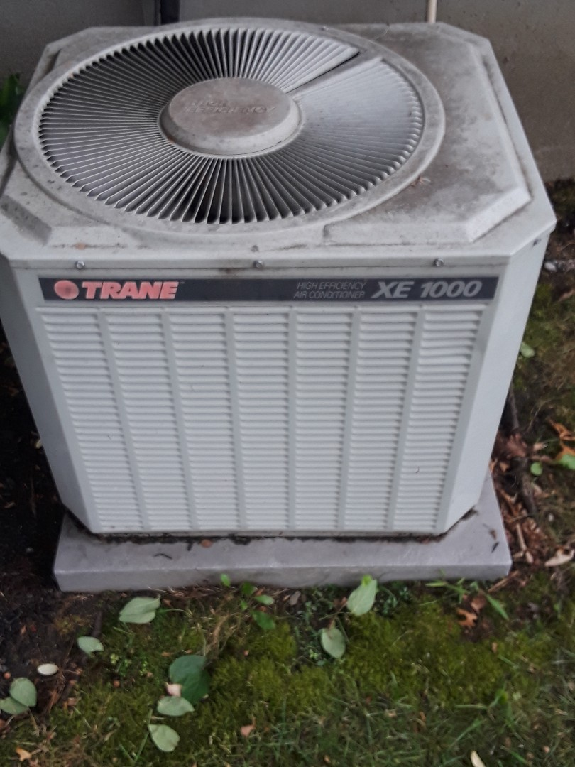 Repair on a Trane AC unit