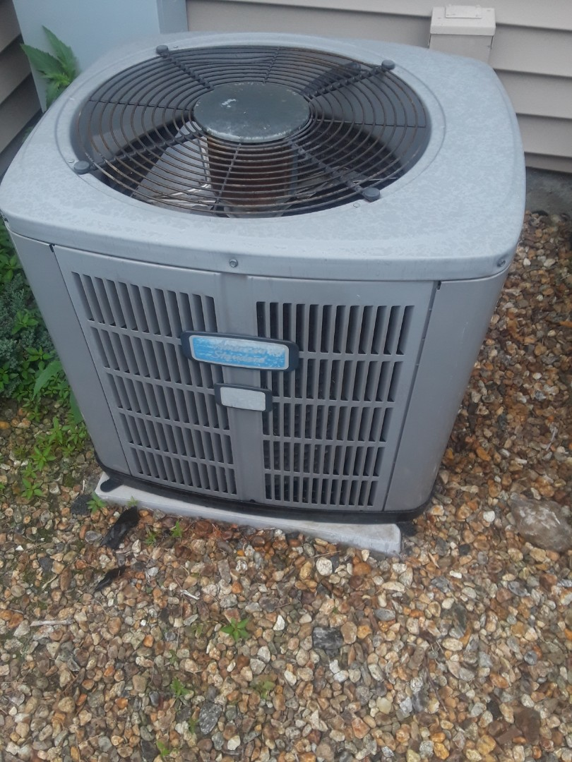 Grafton, MA - Clean and check American Standard AC unit