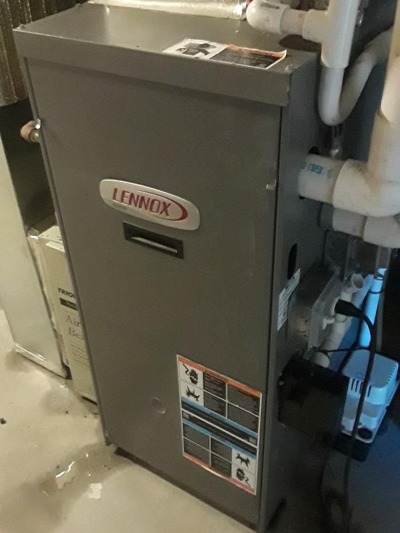 Shrewsbury, MA - Clean and check Lennox heating and AC unit