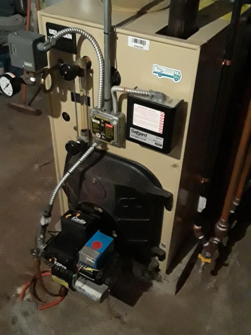 Marlborough, MA - Clean and check Weil McLain oil heating unit