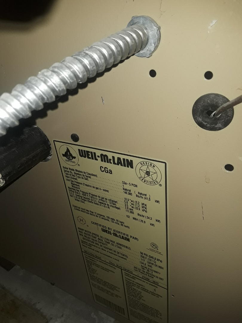 Northbridge, MA - Clean and check Weil McLain gas boiler