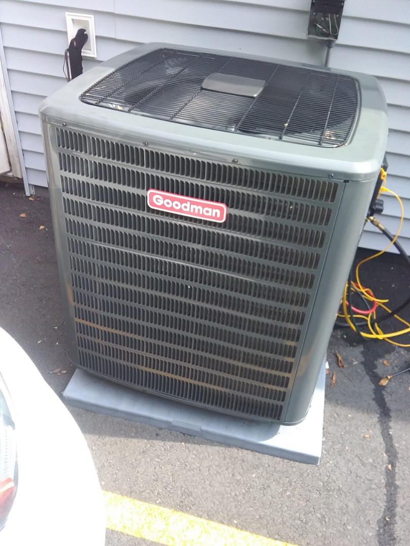 Service on a Goodman air conditioning system