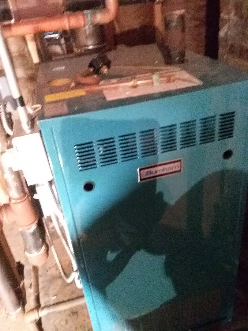 Millbury, MA - Service on A Burnham gas steam boiler