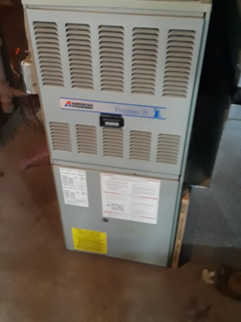 West Boylston, MA - Clean  and check American Standard gas Furnace