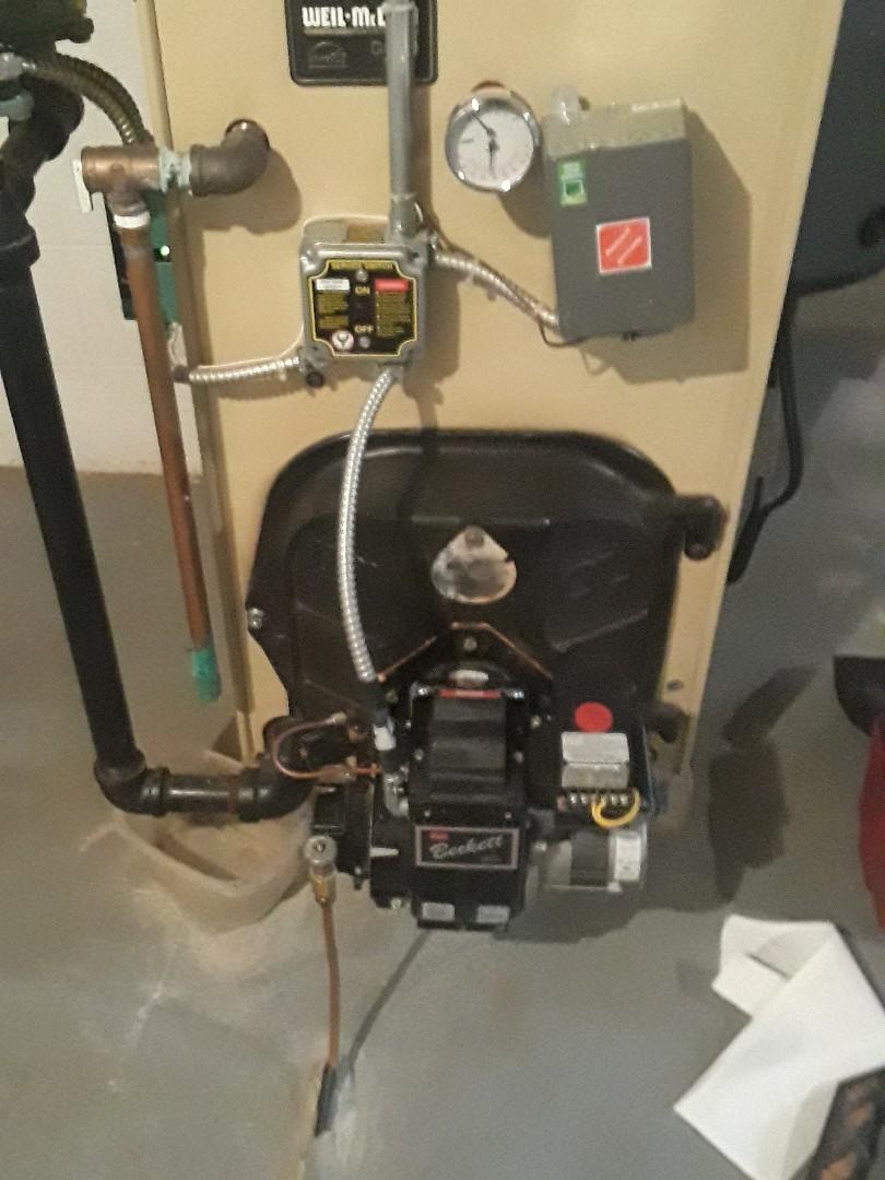 Auburn, MA - Clean and check Weil McLain oil heating unit