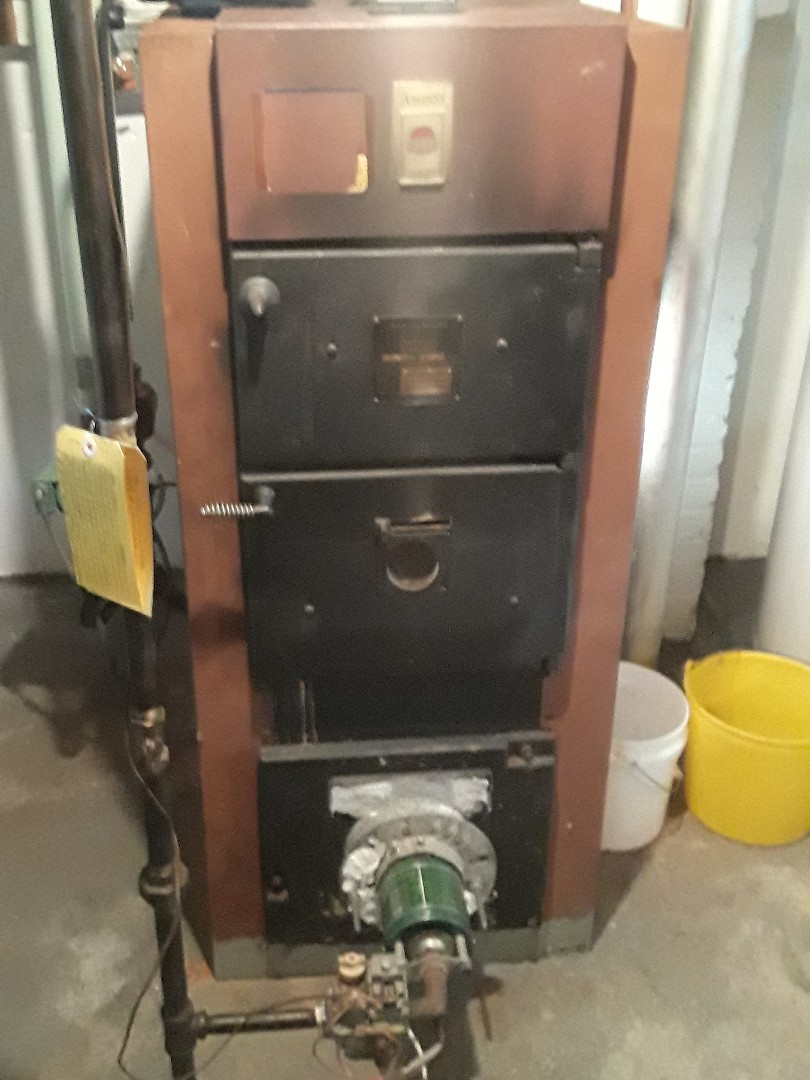 Southborough, MA - Clean and check American Standard gas conversion boiler