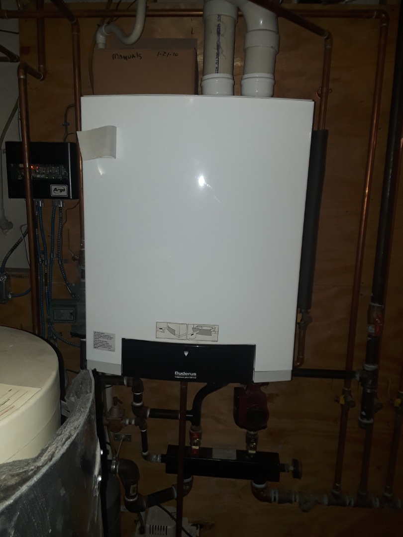 Leominster, MA - Cleand and check Buderus gas condensing boiler