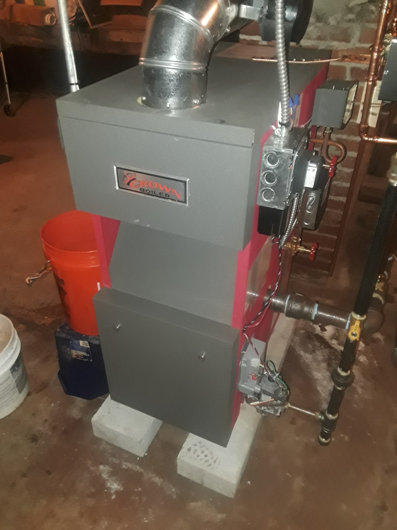 Clean and check Crown steam gas boiler