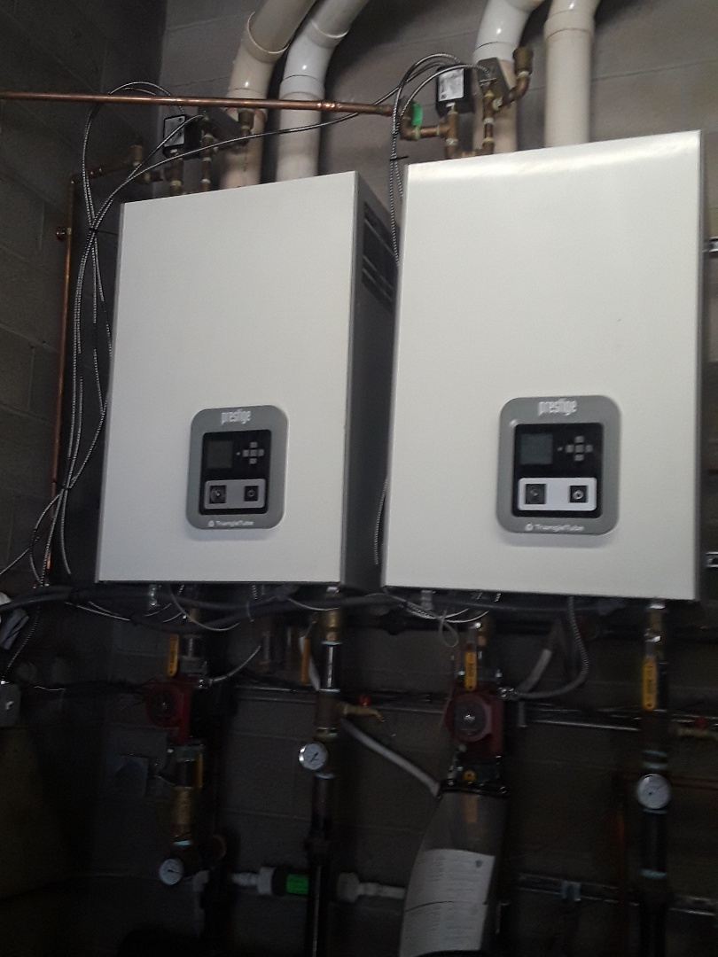 Ashland, MA - Clean and check Triangle Tube gas boilers