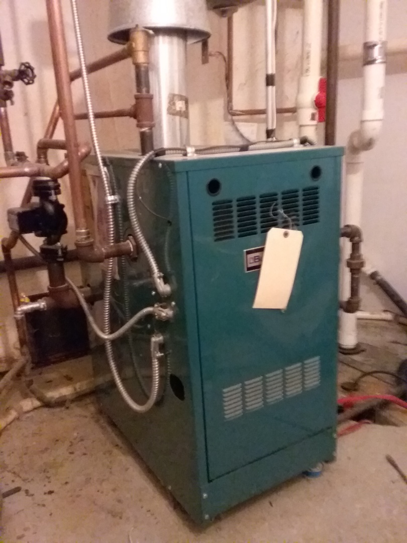Upton, MA - Performed preventive maintenance on forced hot water Burnham boiler.