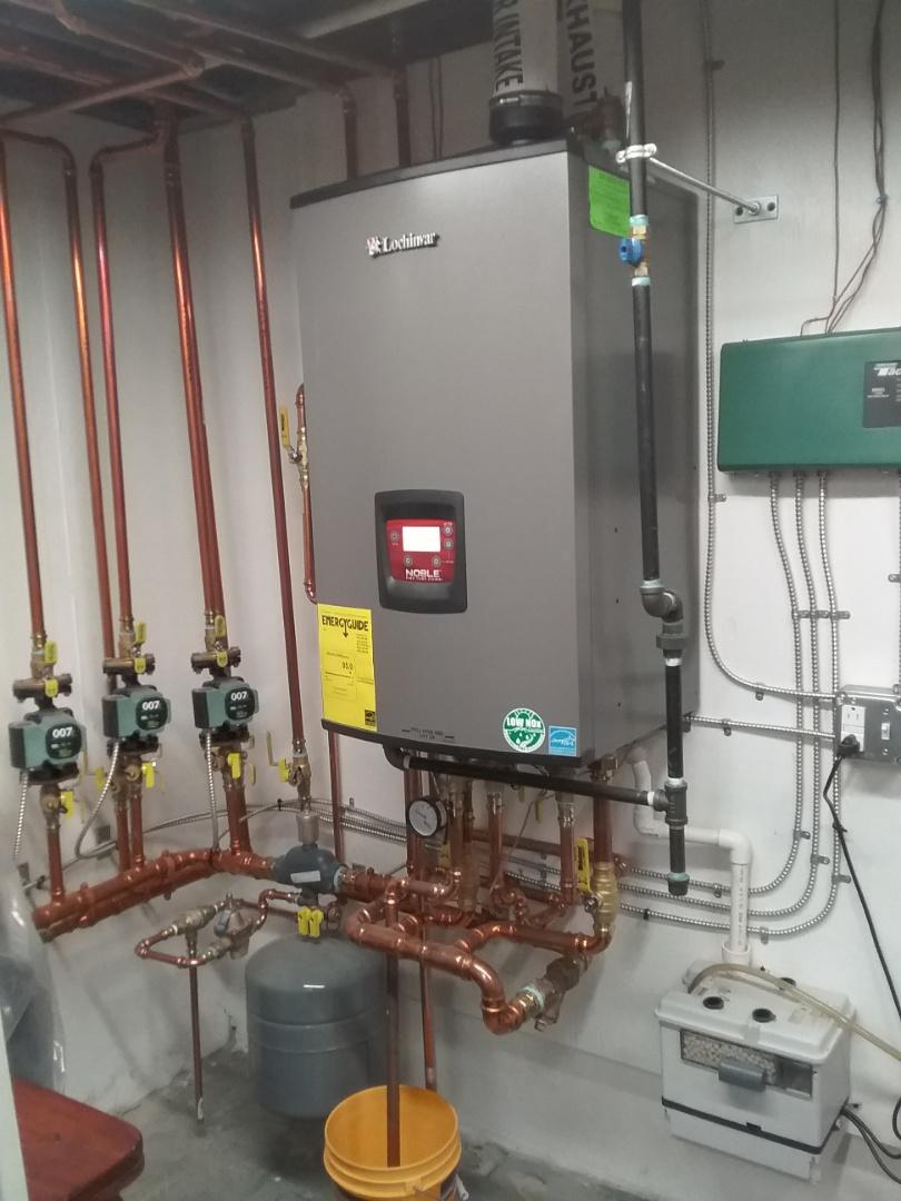 Auburn, MA - Performed preventive maintenance on lochinvar combi boiler