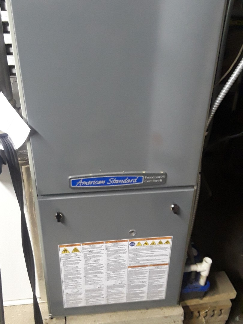 Lancaster, MA - Clean and check American Standard gas furnace